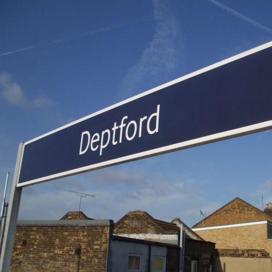 Deptford Train Station Signage