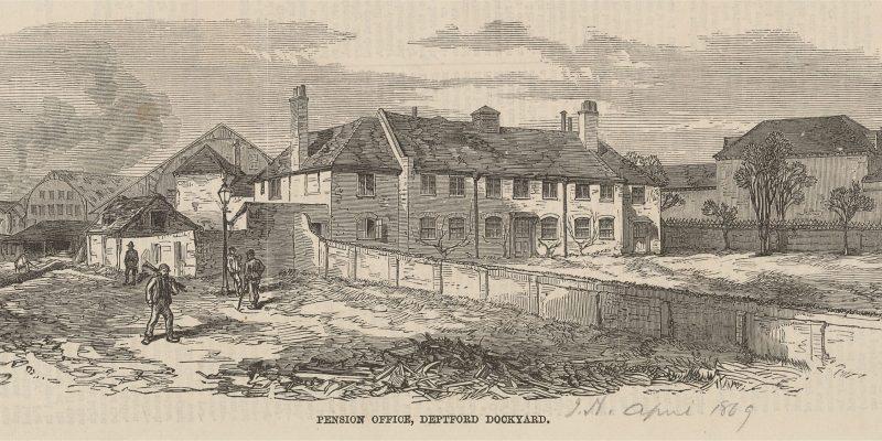 Pension_Office_Deptford_Dockyard_April_1869